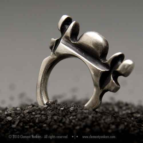 hand crafted metal ring jewelry