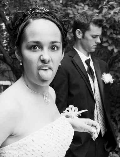 humorous prom date photo