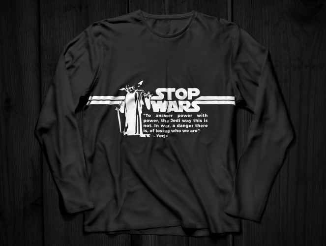 Anti War long sleeve shirt
