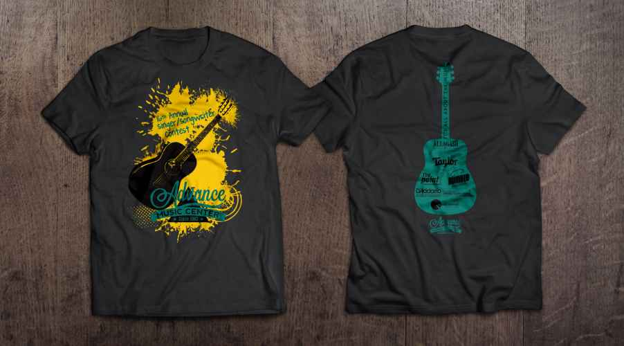 Advance Music singer songwriter t-shirt