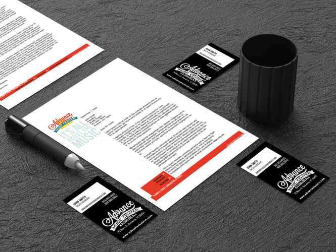 Advance Music letterhead
